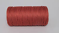 Полиэфирный шнур  4-5мм оттенок Светло-бордовый