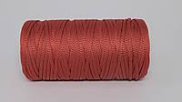 Полиэфирный шнур 4мм оттенок Светло-бордовый