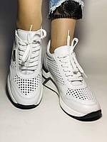 Туреччина.Alpino Жіночі кеди-білі кросівки на платформі.Натуральна шкіра. Розмір 36,37,38,39,40, фото 3