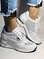 Туреччина.Alpino Жіночі кеди-білі кросівки на платформі.Натуральна шкіра. Розмір 36,37,38,39,40, фото 2