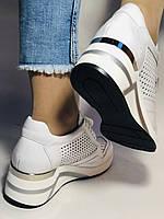 Туреччина.Alpino Жіночі кеди-білі кросівки на платформі.Натуральна шкіра. Розмір 36,37,38,39,40, фото 9