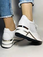 Туреччина.Alpino Жіночі кеди-білі кросівки на платформі.Натуральна шкіра. Розмір 36,37,38,39,40, фото 7