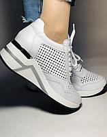 Туреччина.Alpino Жіночі кеди-білі кросівки на платформі.Натуральна шкіра. Розмір 36,37,38,39,40, фото 4