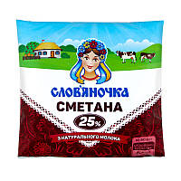 Сметана Слов'яночка 25% п/е 380г