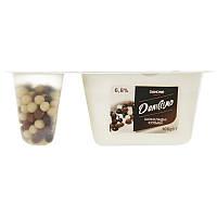Йогурт Даниссимо Фантазія шокол кульки 6,8% стакан 100г