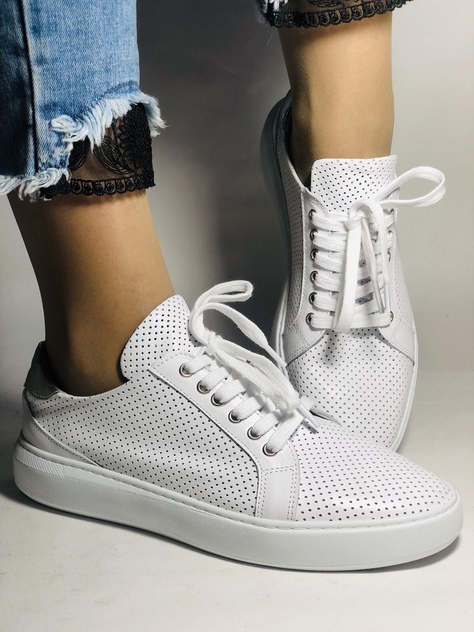 Стильные женские кеды-кроссовки на платформе.Турция. Натуральная кожа. Высокое качество 36.38.39.40  Vellena