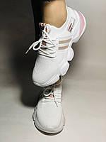 Lonza.Стильные женские кеды-кроссовки белые.Плотный текстиль. Размер  36.  Vellena, фото 3