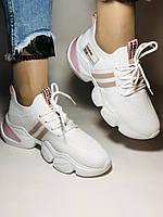 Lonza.Стильные женские кеды-кроссовки белые.Плотный текстиль. Размер  36.  Vellena, фото 4