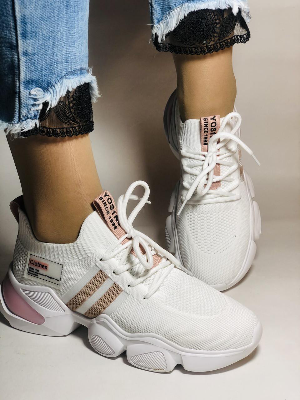 Lonza.Стильные женские кеды-кроссовки белые.Плотный текстиль. Размер  36.  Vellena