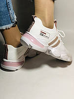 Lonza.Стильные женские кеды-кроссовки белые.Плотный текстиль. Размер  36.  Vellena, фото 5
