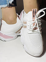 Lonza.Стильные женские кеды-кроссовки белые.Плотный текстиль. Размер  36.  Vellena, фото 6