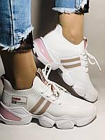 Lonza.Стильные женские кеды-кроссовки белые.Плотный текстиль. Размер  36.  Vellena, фото 2