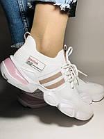 Lonza.Стильные женские кеды-кроссовки белые.Плотный текстиль. Размер  36.  Vellena, фото 7