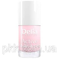 Мультивитаминный укрепитель для ногтей Delia Cosmetics ACTIVE MULTIVITAMIN CORAL PHARMA 11 мл