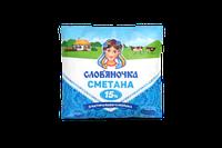 Сметана Слов'яночка 15% п/е 380г