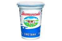 Сметана Яготинська  15% стакан 350г