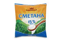 Сметана ГаличанськА 15% п/э 400г