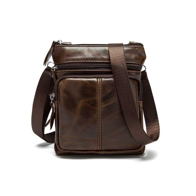 Чоловіча шкіряна міні-сумка через плече Marrant | коричнева