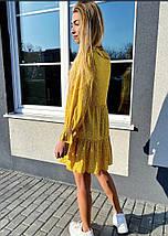 Літній шифонова сукня із завищеною талією і ніжними рюшами на грудях,2 кольори, Р-р S, M Код 375Т, фото 3