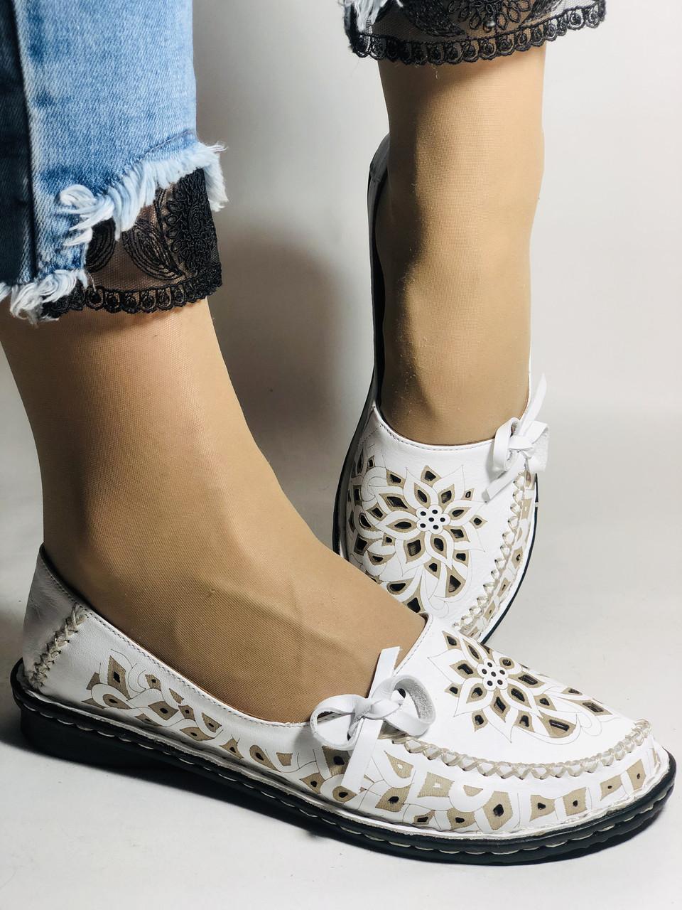 Удобные! Женские туфли -балетки из натуральной кожи.Турция.36. 37.38, 39, 40 Супер комфорт.Vellena