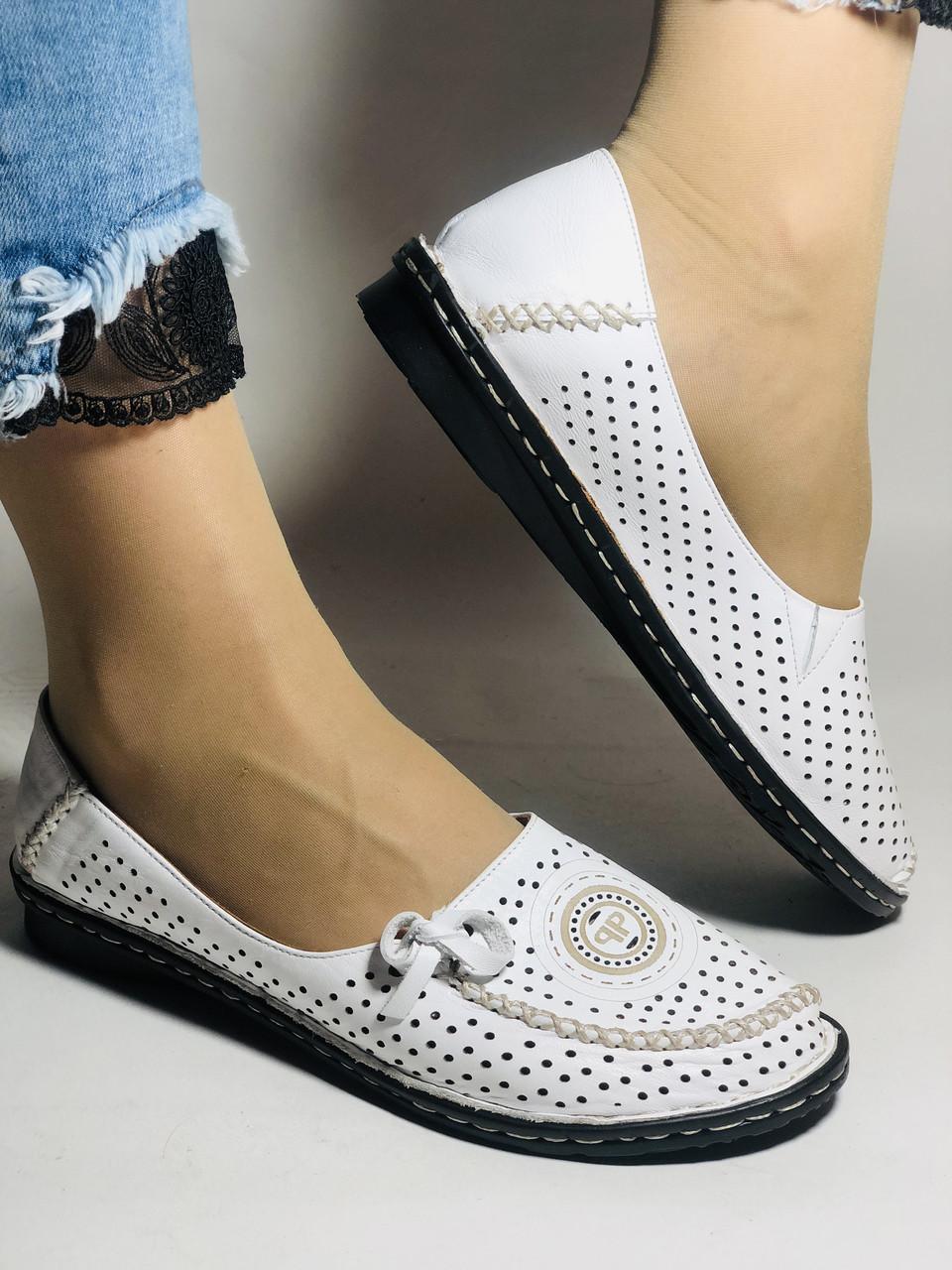 Удобные! Женские туфли -балетки из натуральной кожи Турция.36-40. Супер комфорт.Vellena