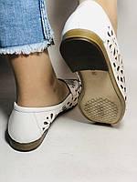 Стильные! Женские туфли -балетки из натуральной кожи 37 Турция. Супер комфорт.Vellena, фото 6