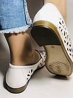 Стильные! Женские туфли -балетки из натуральной кожи 37 Турция. Супер комфорт.Vellena, фото 5