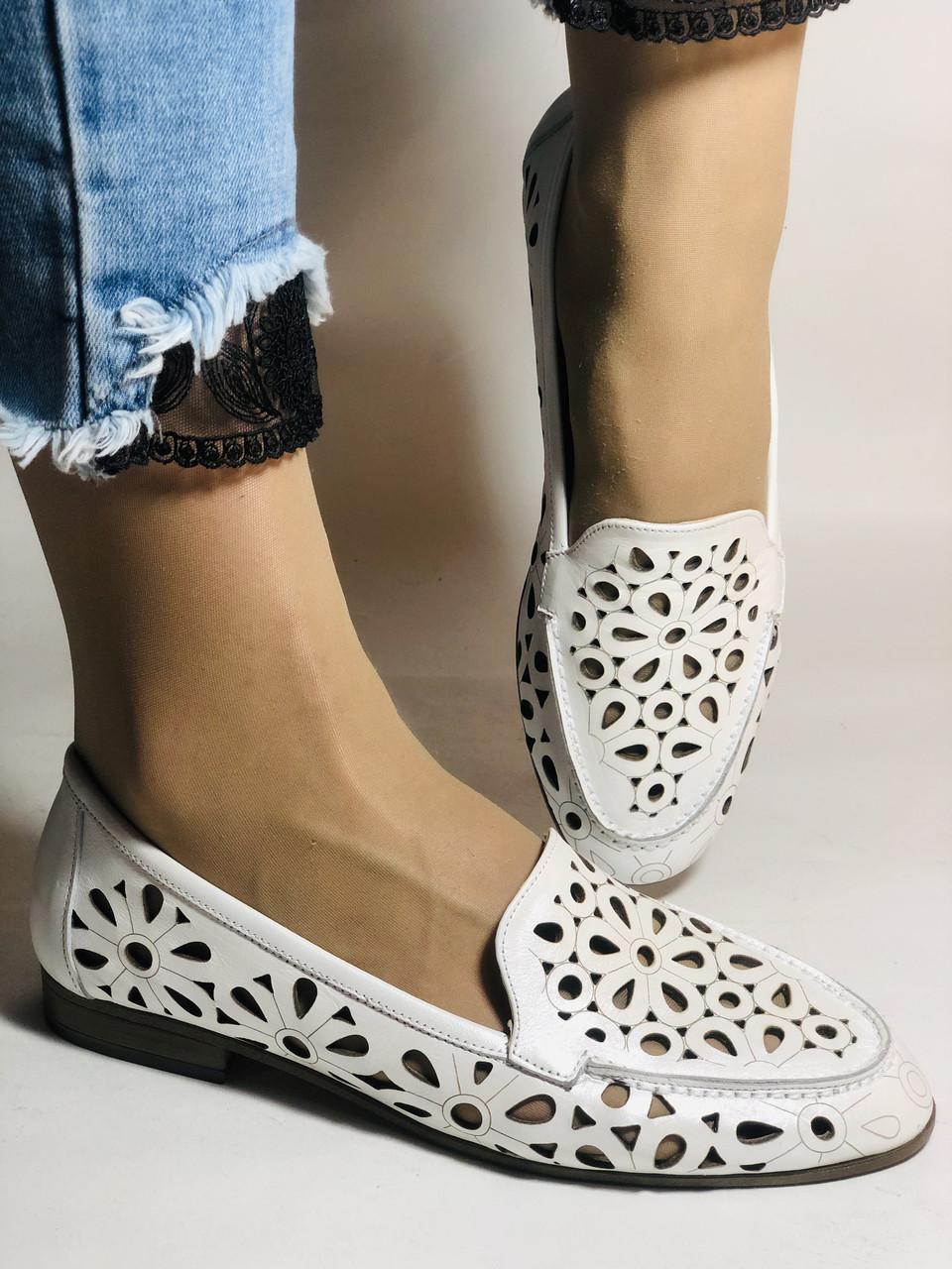 Стильные! Женские туфли -балетки из натуральной кожи 37 Турция. Супер комфорт.Vellena