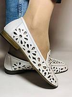 Стильные! Женские туфли -балетки из натуральной кожи 37 Турция. Супер комфорт.Vellena, фото 8