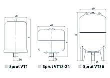 Расширительный компенсационный бак для отопления Sprut VT/1L, фото 2