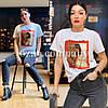 Современная женская футболка с рисунком 42р (в расцветках), фото 4