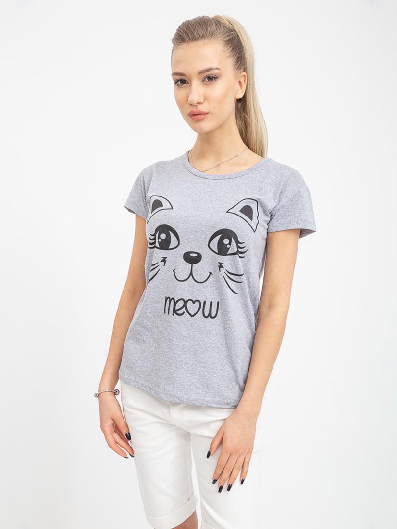 Повседневная футболка хлопковая 42-48 (в расцветках)