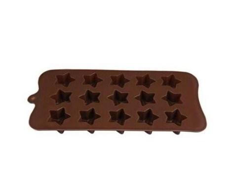 Форма силиконовая для конфет звездочки 15шт для выпечки