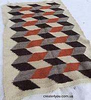Ліжник-килим, доріжка з натуральної овечої шерсті 150*220 см