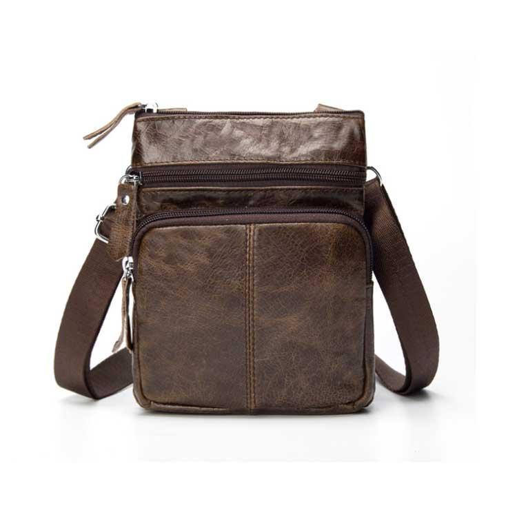 Чоловіча шкіряна міні-сумка через плече Marrant   lite coffee