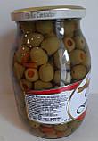 Оливки Olive Farcite Bella Contadina фаршировані перцем Італія 1062ml, фото 2