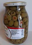 Оливки Olive Farcite Bella Contadina фаршировані перцем Італія 1062ml, фото 3