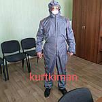 Захисний комбінезон великого розміру багаторазовий. Дезінфекція, польові, фарбувальні роботи., фото 4