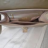 Жіноча бежева сумка AGATA Gold з натуральної шкіри пітона, фото 3