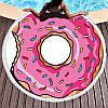 Пляжное полотенце / покрывало Towel Beach Holiday NEW круглое с бахрамой  150x150 см Розовый пончик