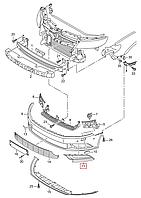Решётка п/туманки левая VW Passat CC 2012-2018 USA