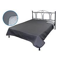 Покрывало на кровать, диван Руно Темно серое 212х240 двустороннее евро, фото 3