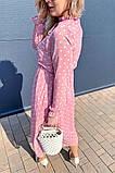 Летнее розовое, шифоновое платье в горошек на завязках .,Р-р.38(М), 40( L), 42(XL), 44(2XL), 46(3XL) Код 371Т, фото 4