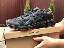 Мужские кроссовки Asics Gel-Kayano 25,сетка,черные с красным, фото 3
