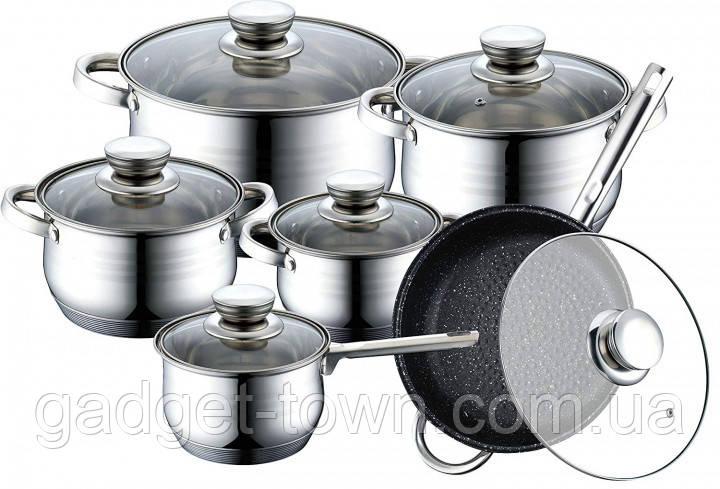 Набір посуду для кухні Master Chef (12 предметів)