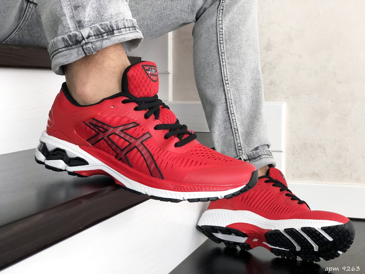 Чоловічі кросівки Asics Gel-Kayano 25,сітка,червоні