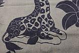Одеяло жаккардовое детское полушерстяное Vladi Жираф (Влади) Коричневый 100х140 Шерсть 70 (3102), фото 3