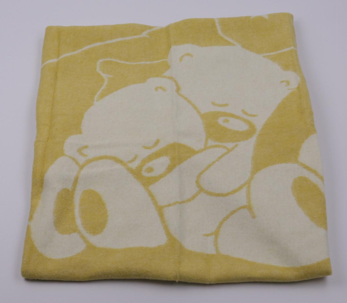 Одеяло жаккардовое детское хлопковое Vladi (Влади) Желтый 100х140 Хлопок 50 (3069)
