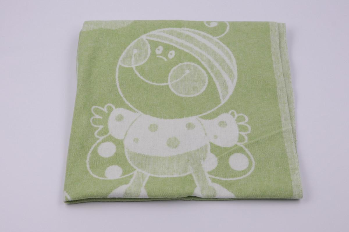 Одеяло жаккардовое детское хлопковое Vladi (Влади) Зеленый 100х140 Хлопок 50 (3066)