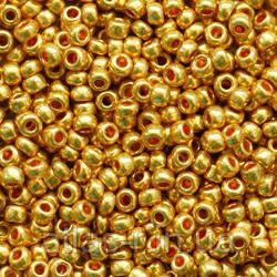 Бісер Preciosa Чехія №18581 1г, золотий металік
